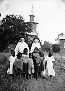 Dominican sisters and pupils at St. Patrick's church