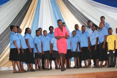 Jotsholo choir - playing the galary