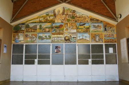 Church Main Entrance in Holy Family, Nketa