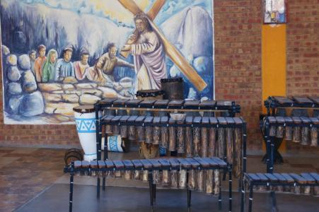 Marimbas in Mpopoma Church