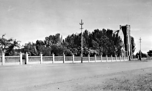 St. Mary's Cathedral and Dominican Convent school railings early 1937