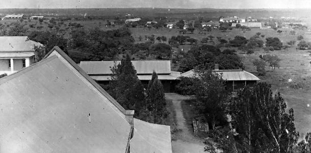 View from St. Mary's Cathedral bell tower, c. 1933